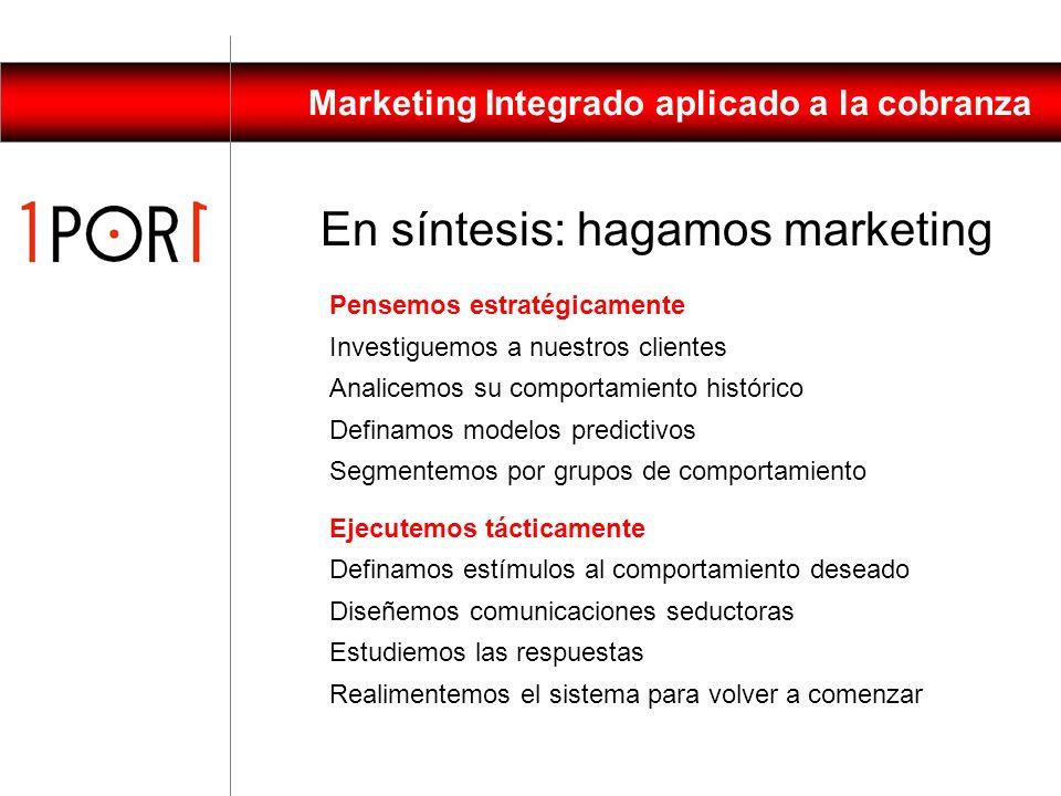 Marketing Integrado aplicado a la cobranza La situación cambió, esperar cuesta mucho dinero. Aunque los clientes tengan la voluntad, no tienen dinero