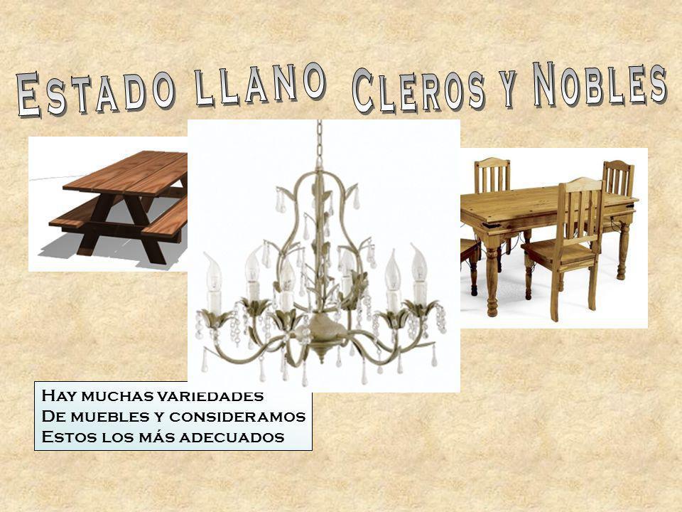 Hay muchas variedades De muebles y consideramos Estos los más adecuados