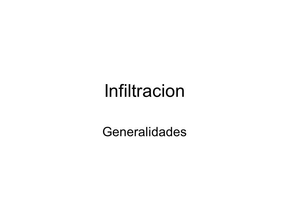 Infiltracion Generalidades