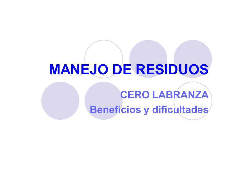 MANEJO DE RESIDUOS CERO LABRANZA Beneficios y dificultades