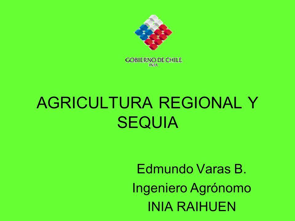 AGRICULTURA REGIONAL Y SEQUIA Edmundo Varas B. Ingeniero Agrónomo INIA RAIHUEN