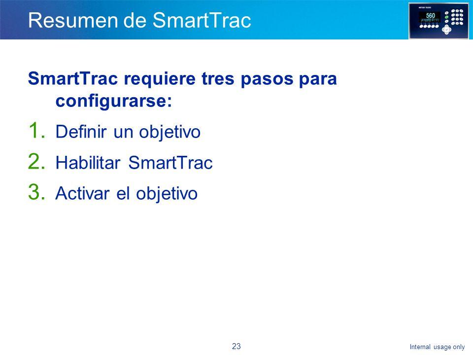Internal usage only 22 Ejercicio con SmartTrac ¿Qué tiene de diferente esta fotografía.