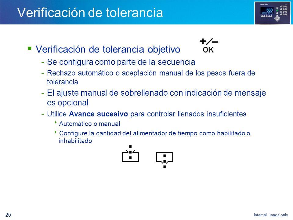 Internal usage only 18 Control de secuencia Inicio de pesaje de entrada o pesaje de salida - Utilice la tecla programable o un botón de presión remoto