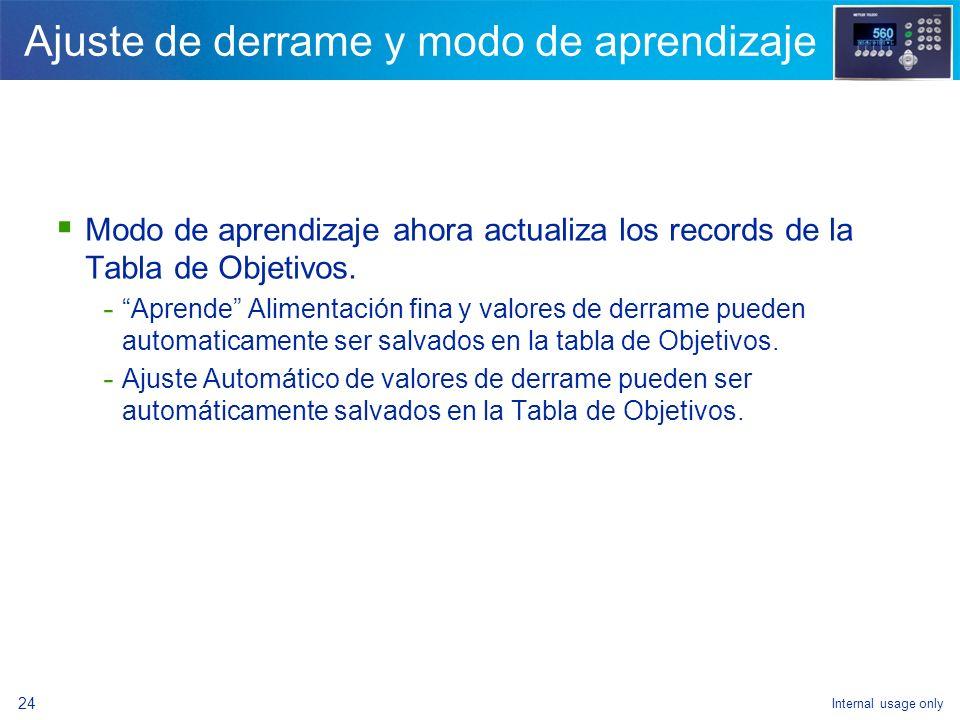 Internal usage only 22 Verificación de tara de contenedor Operación de verificación de tara - Debe ingresarse cero como valor de tara en el registro a