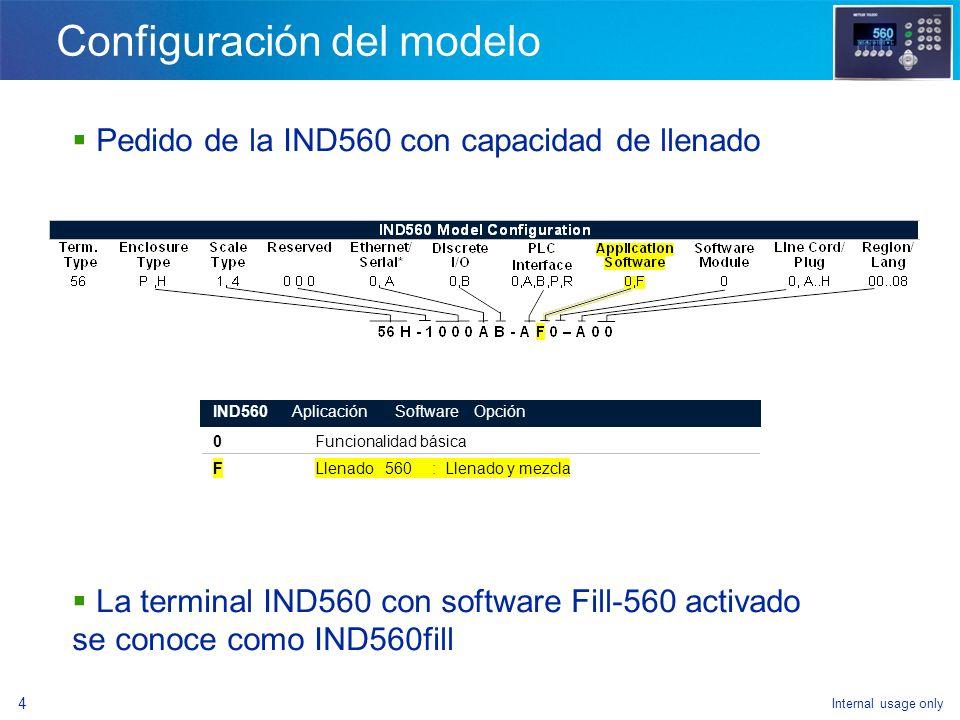 Internal usage only 2 Ventajas de la IND560fill Llenado avanzado - Control de cuatro materiales - Interbloqueos de peso de entrada y peso de salida -