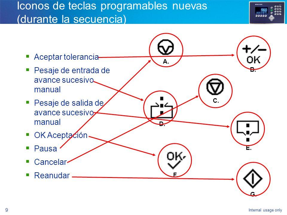 Internal usage only 7 Navegación El ingreso a la configuración de la IND560fill es mediante la tecla programable CONFIGURAR La mayoría de las nuevas f