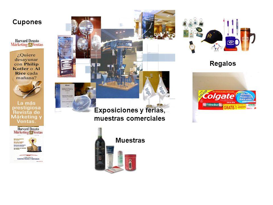 Muestras Exposiciones y ferias, muestras comerciales Cupones Regalos