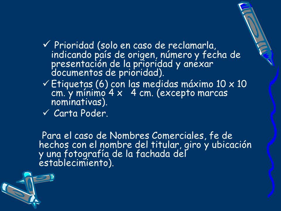 Prioridad (solo en caso de reclamarla, indicando país de origen, número y fecha de presentación de la prioridad y anexar documentos de prioridad). Eti