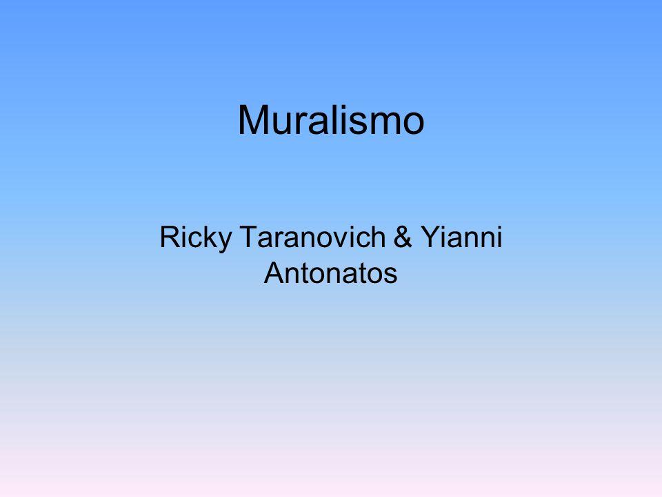 Muralismo Muralismo es un arte con temas politicas y sociales.