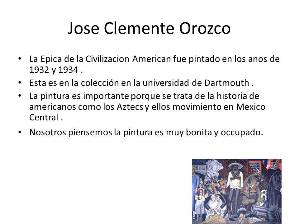 Jose Clemente Orozco La Epica de la Civilizacion American fue pintado en los anos de 1932 y 1934. Esta es en la colección en la universidad de Dartmou