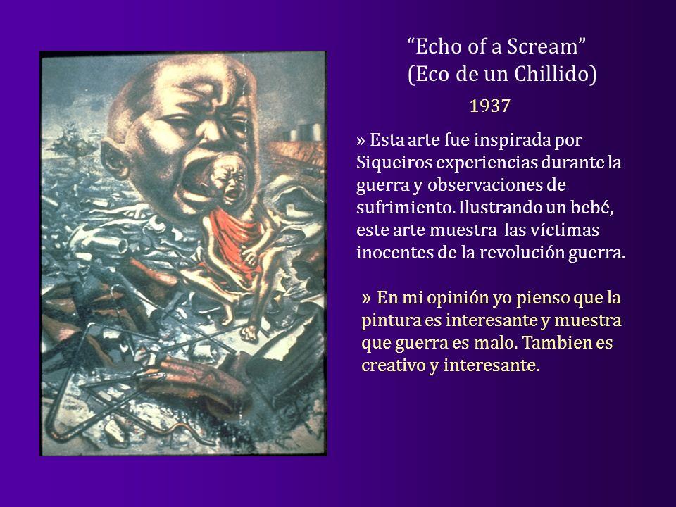Echo of a Scream (Eco de un Chillido) 1937 » Esta arte fue inspirada por Siqueiros experiencias durante la guerra y observaciones de sufrimiento. Ilus