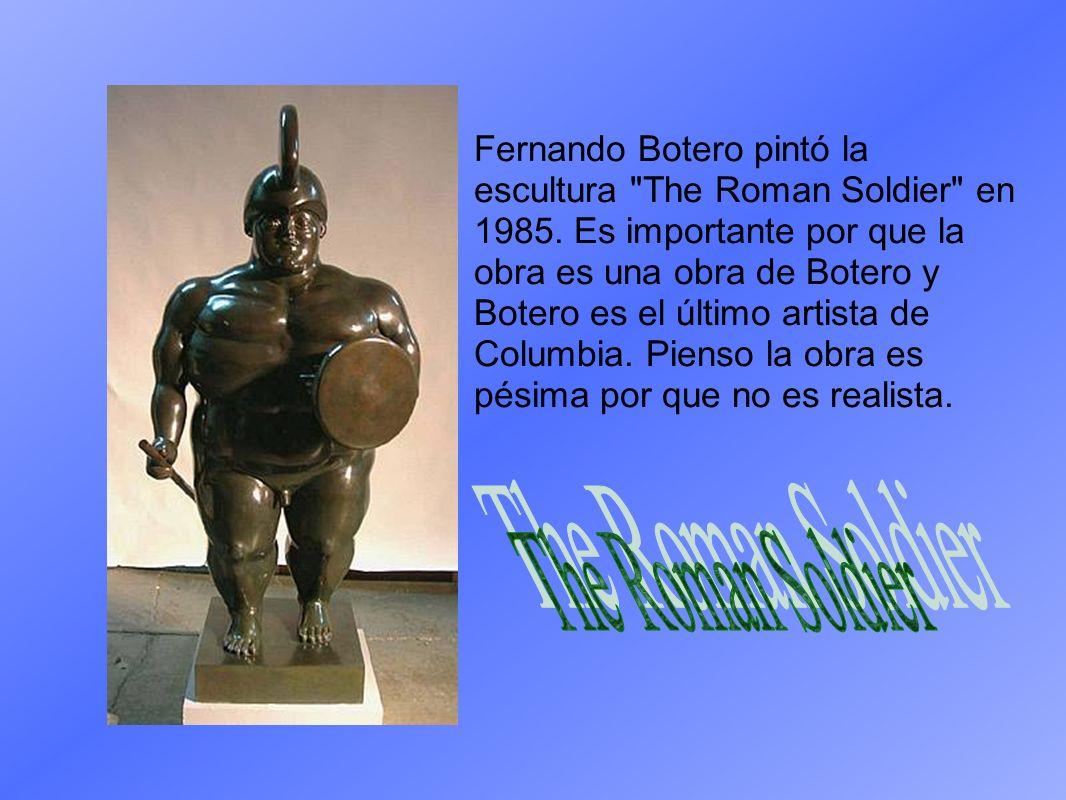Fernando Botero pintó la escultura