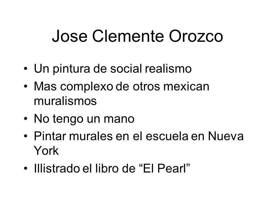 Jose Clemente Orozco Un pintura de social realismo Mas complexo de otros mexican muralismos No tengo un mano Pintar murales en el escuela en Nueva Yor