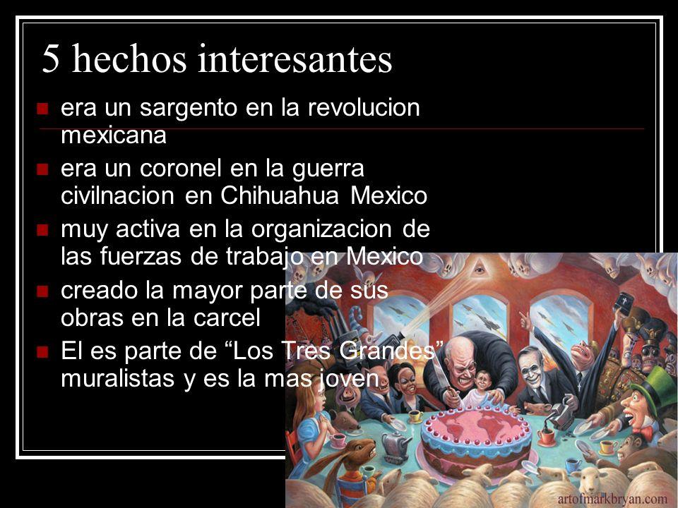 5 hechos interesantes era un sargento en la revolucion mexicana era un coronel en la guerra civilnacion en Chihuahua Mexico muy activa en la organizac