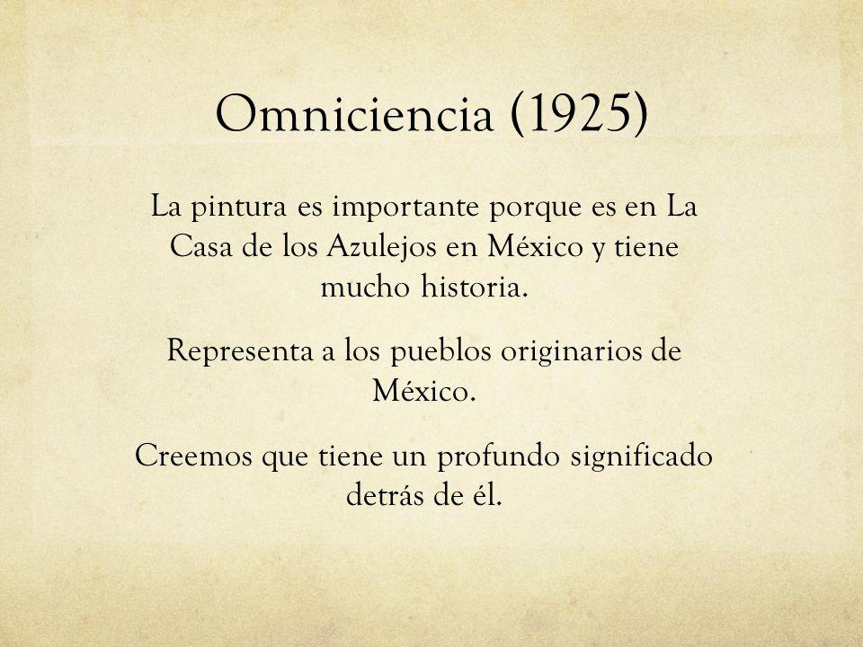 La pintura es importante porque es en La Casa de los Azulejos en México y tiene mucho historia. Representa a los pueblos originarios de México. Creemo
