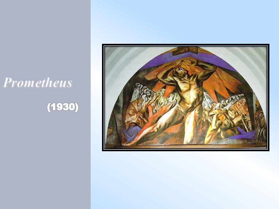 Este es una mural muy importante porque fue su primer obra en Norte América.