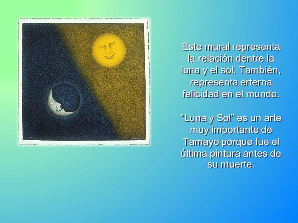 Este mural representa la relación dentre la luna y el sol.