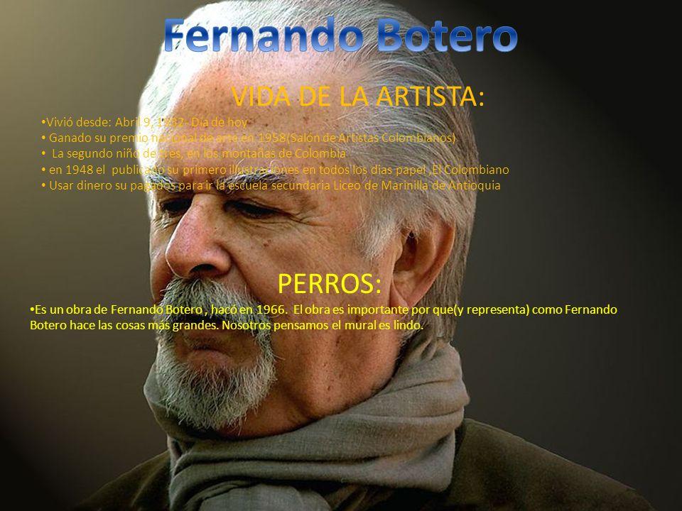 VIDA DE LA ARTISTA: Vivió desde: Abril 9, 1932- Día de hoy Ganado su premio nacional de arte en 1958(Salón de Artistas Colombianos) La segundo niño de