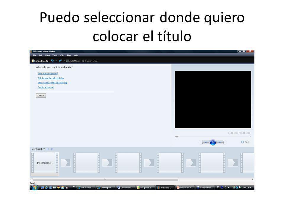 Luego Importar video que tengo en mi computadora.Los títulos etc.