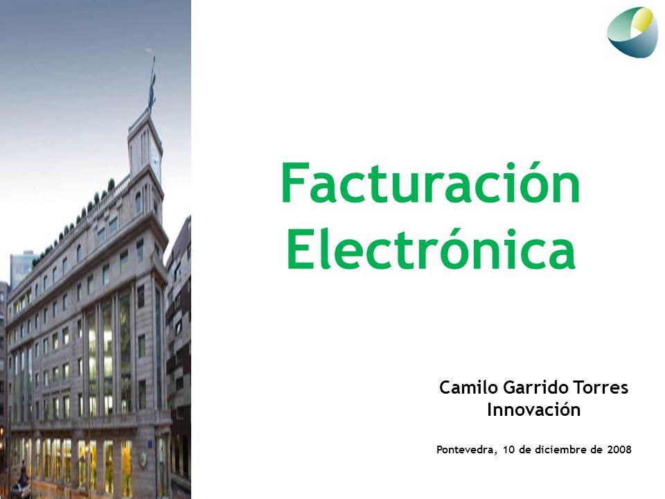 Facturación Electrónica Camilo Garrido Torres Innovación Pontevedra, 10 de diciembre de 2008
