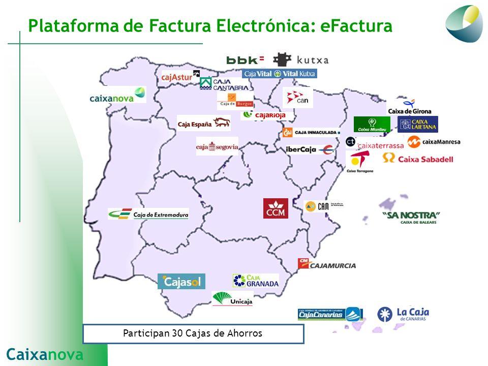 Plataforma de Factura Electrónica: eFactura Participan 30 Cajas de Ahorros Caixanova