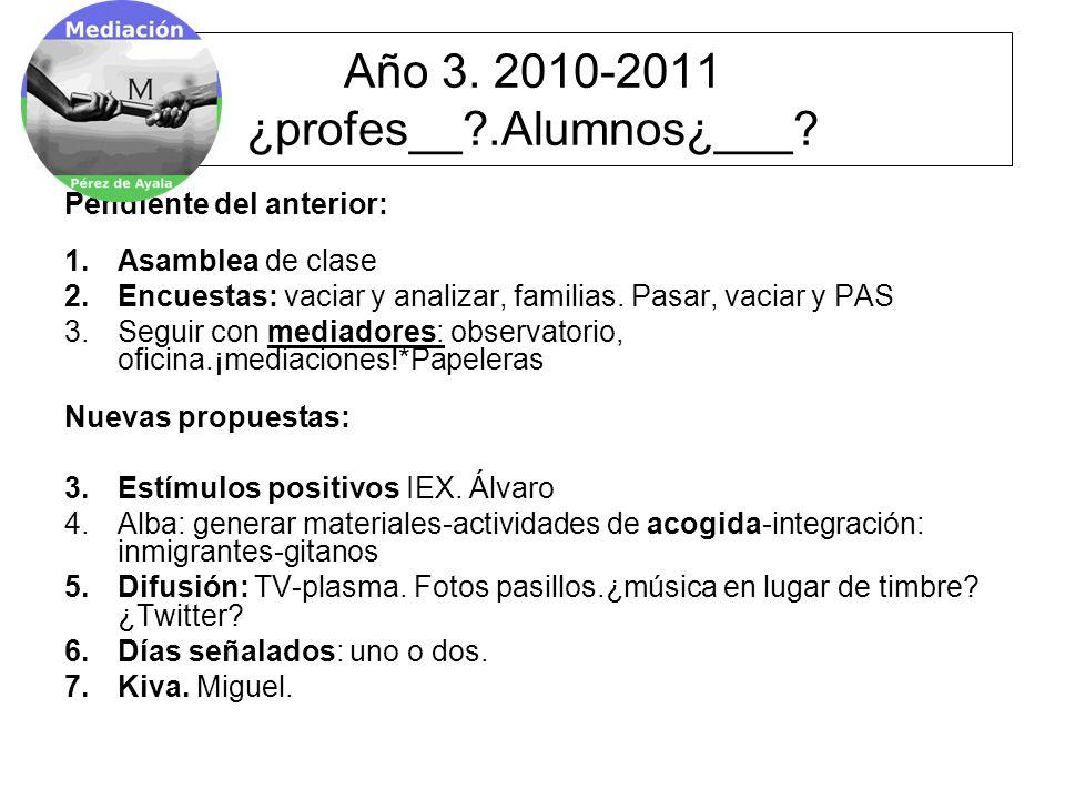 Año 3. 2010-2011 ¿profes__ .Alumnos¿___.