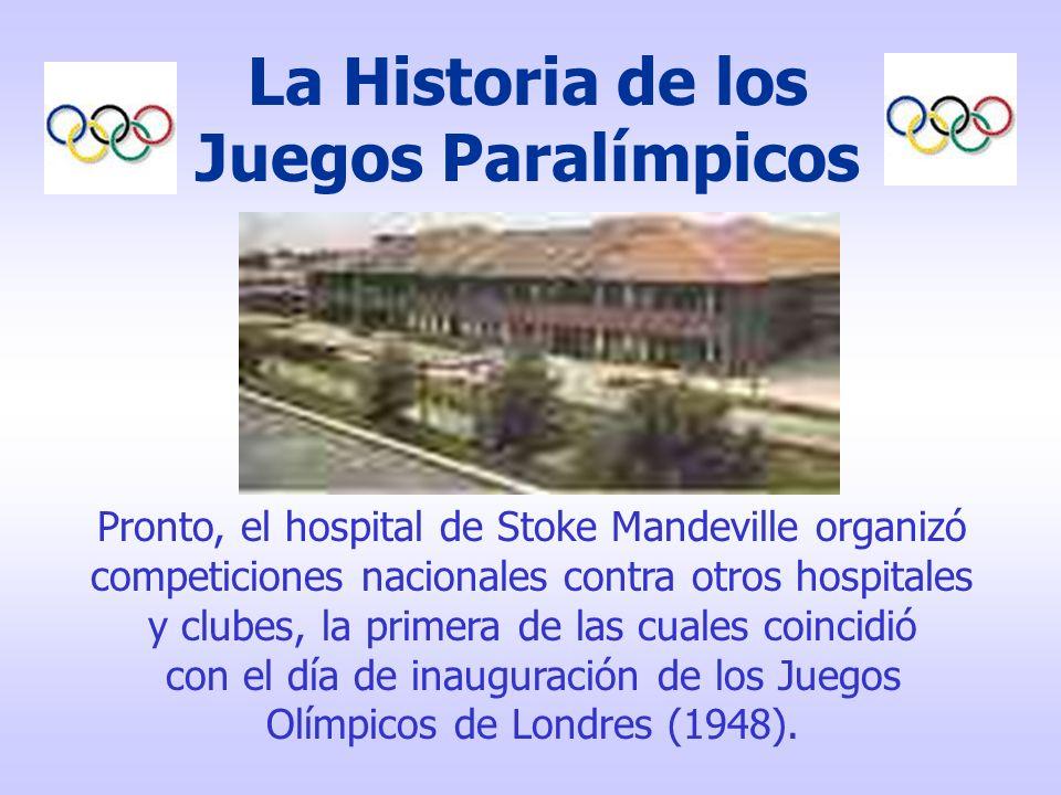 Los Juegos Paralímpicos significan: Olimpiadas Paralelas Y están abiertos para atletas de seis grupos diferentes de incapacidad.
