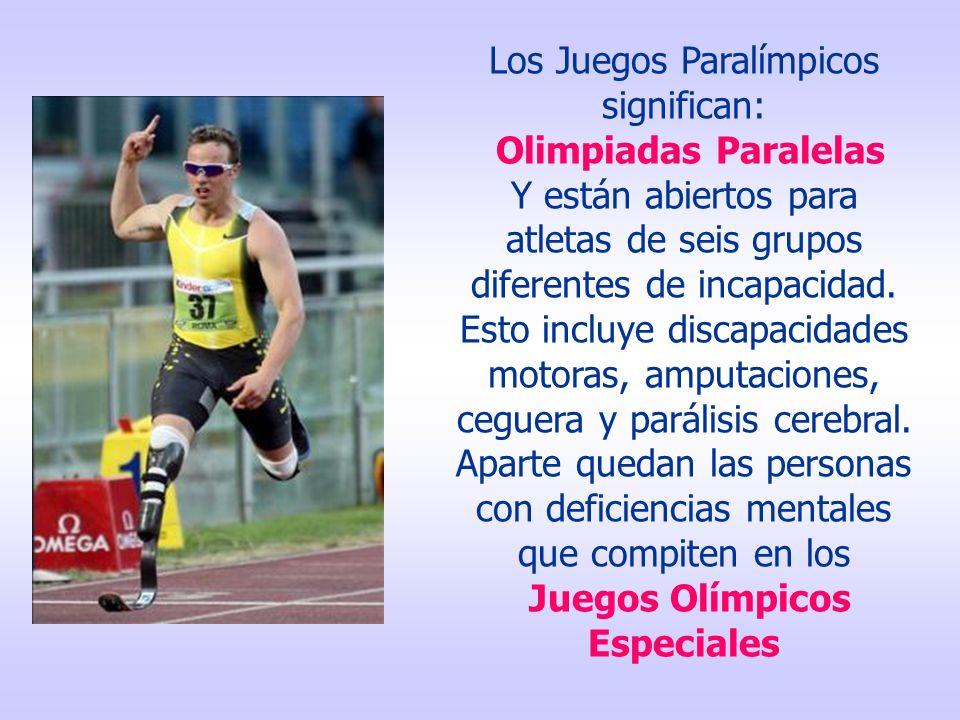 Hoy los Juegos Paralímpicos son eventos de la elite de los deportes para atletas con discapacidad.