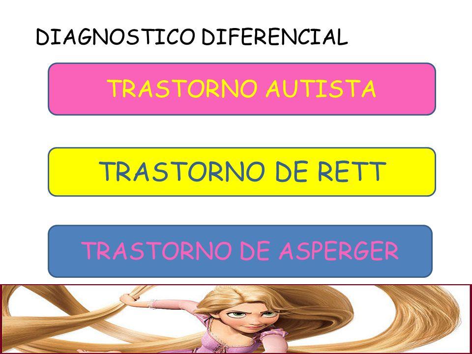 DIAGNOSTICO DIFERENCIAL TRASTORNO AUTISTA TRASTORNO DE RETT TRASTORNO DE ASPERGER