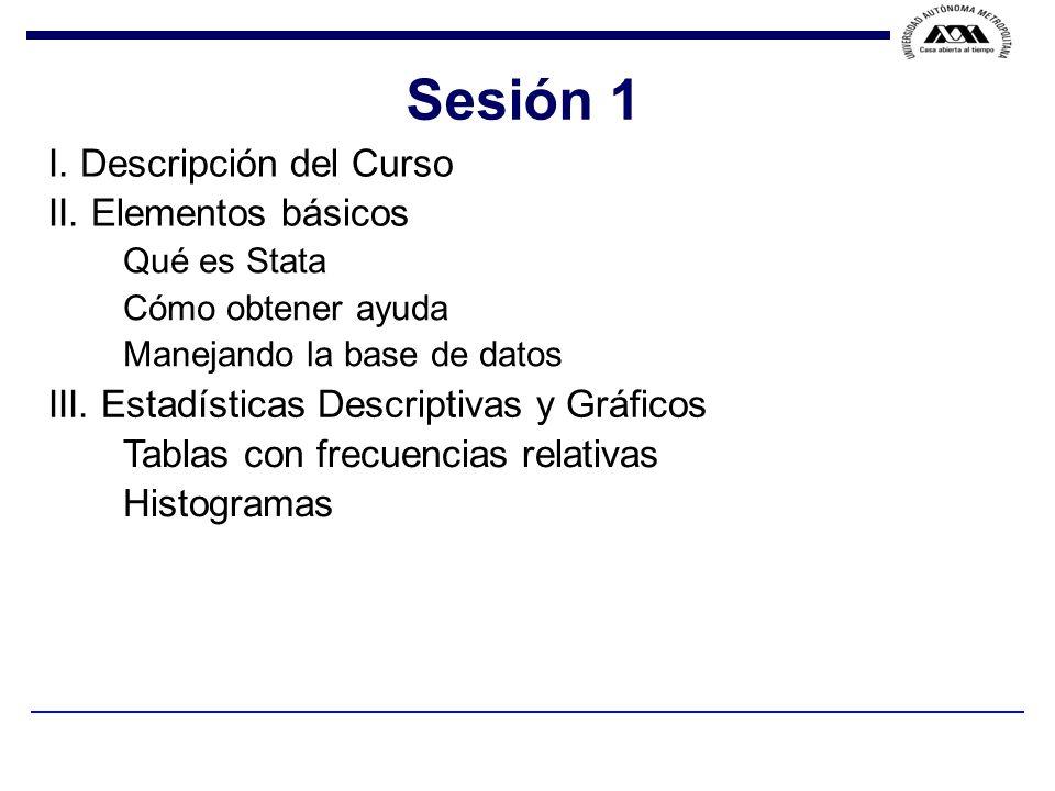 F.VELA / J. F. ISLAS / Sesión 1 I. Descripción del Curso II.