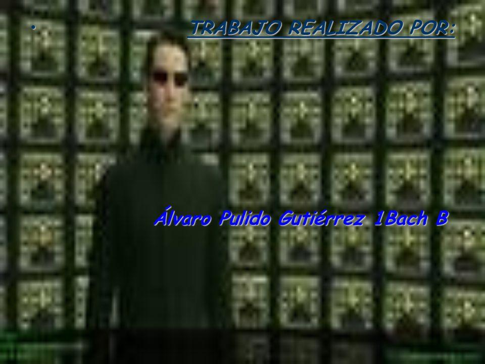 T TRABAJO REALIZADO POR: Álvaro Pulido Gutiérrez 1Bach B