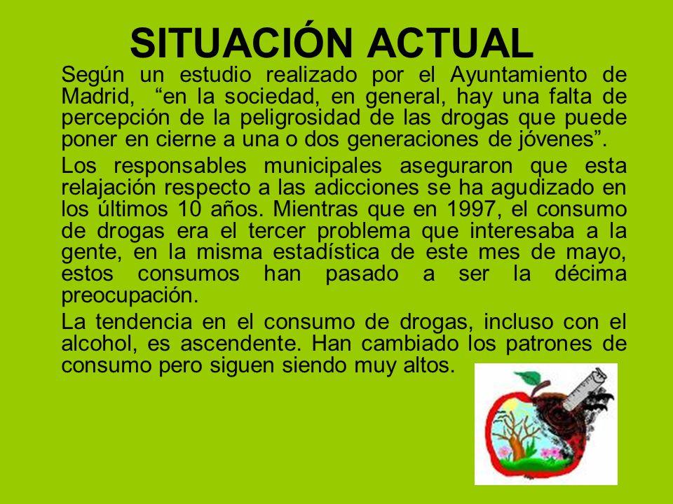 SITUACIÓN ACTUAL Según un estudio realizado por el Ayuntamiento de Madrid, en la sociedad, en general, hay una falta de percepción de la peligrosidad