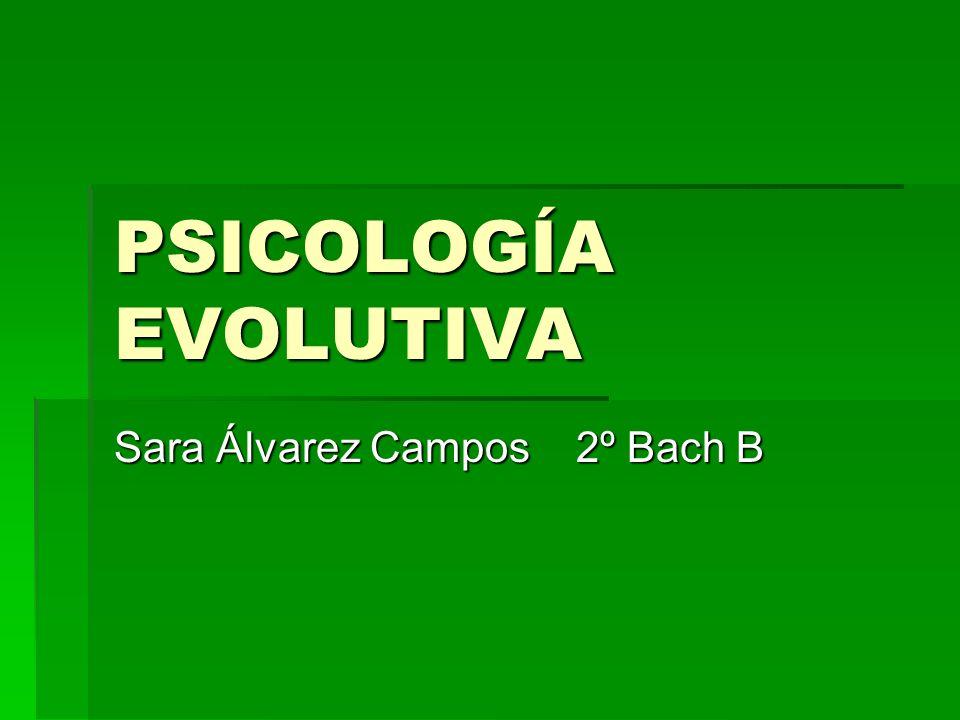 PSICOLOGÍA EVOLUTIVA Sara Álvarez Campos 2º Bach B