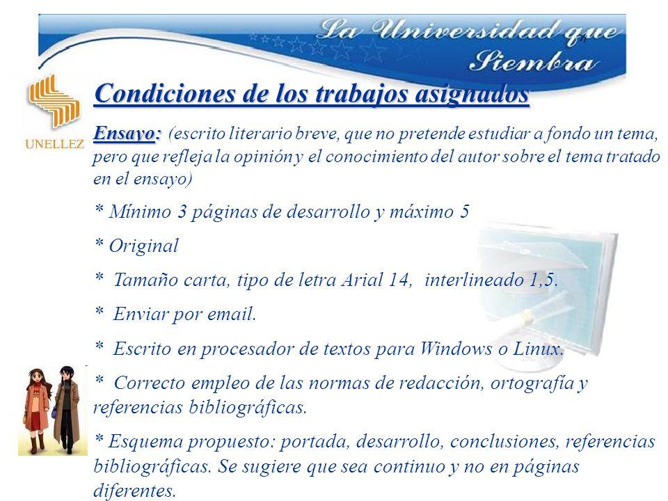 Condiciones de los trabajos asignados Estudio de Mercado * * Redacción propia * Tamaño carta, tipo de letra Arial 14, interlineado 1,5.