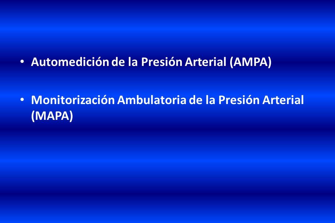 Automedición de la Presión Arterial (AMPA) Monitorización Ambulatoria de la Presión Arterial (MAPA)