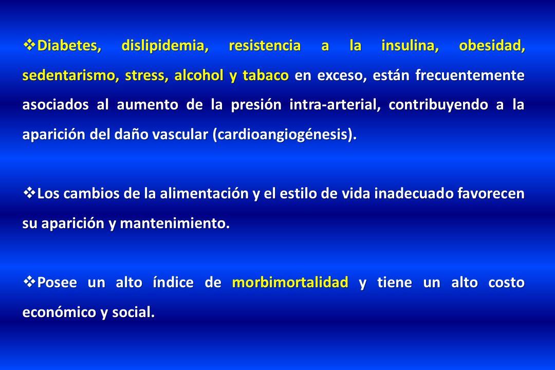 Diabetes, dislipidemia, resistencia a la insulina, obesidad, sedentarismo, stress, alcohol y tabaco en exceso, están frecuentemente asociados al aumen