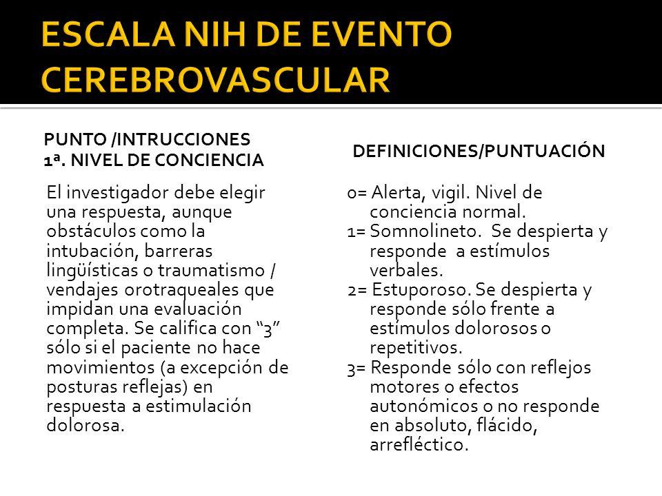 1.- Normal.2.- Alteración de la vibratoria o grafestesia en una o dos extremidades.