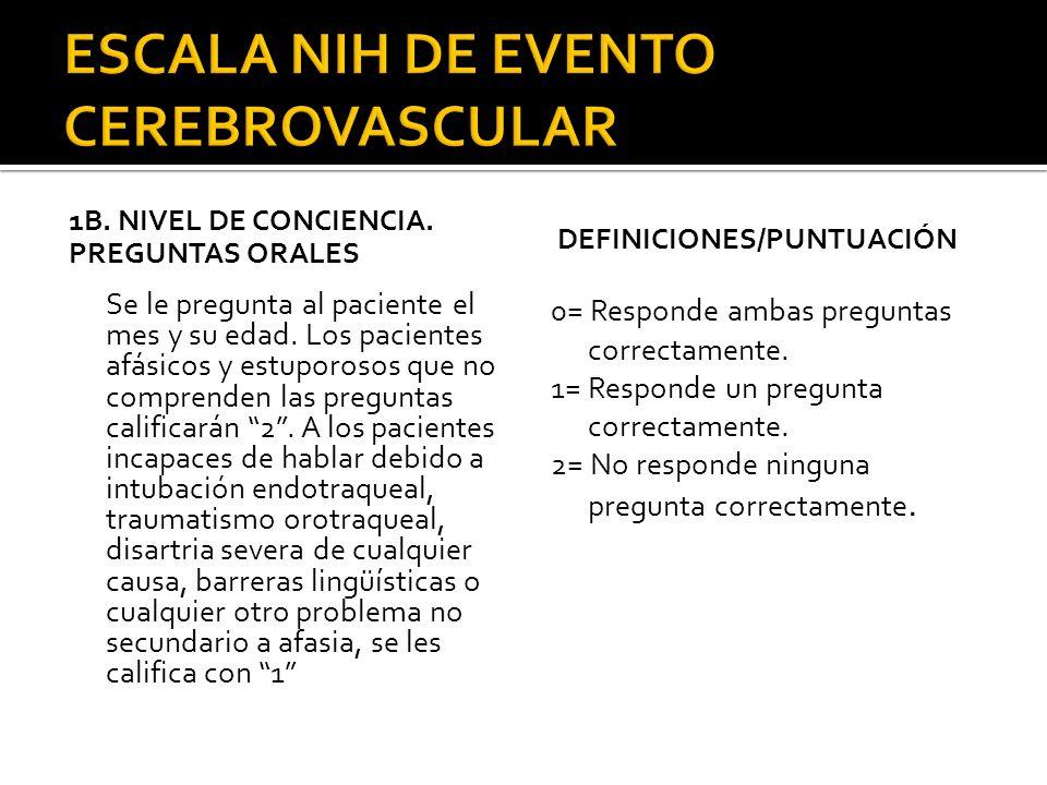1.- Función normal.2.- Ligero titubeo, urgencia o retención.