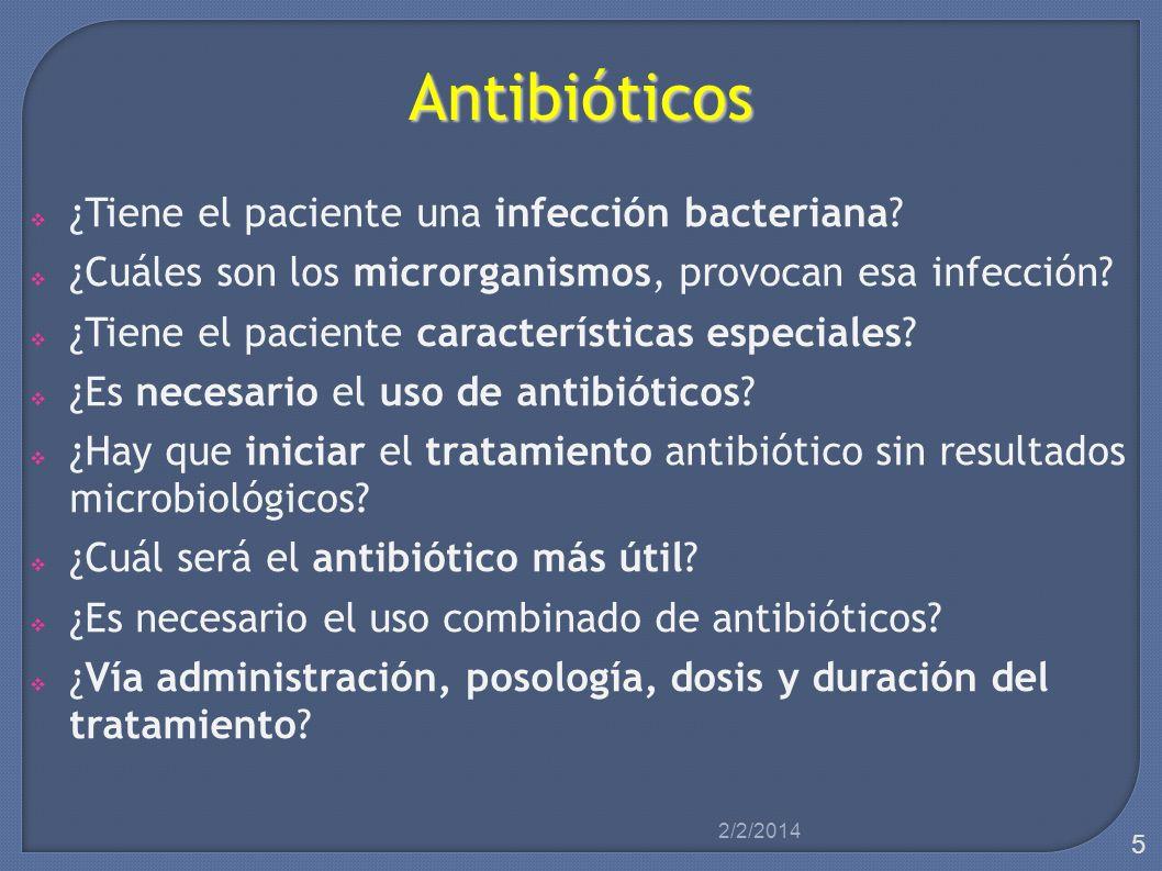 Microorganismo Datos clínicos Infección bacteriana Tratamiento empírico Tratamiento empírico Toma de muestra microbiológica Interpretación datos Interpretación datos Microorganismo Antibiograma 2/2/2014 6
