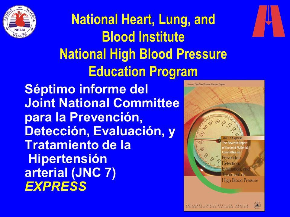 Séptimo informe del Joint National Committee para la Prevención, Detección, Evaluación, y Tratamiento de la Hipertensión arterial (JNC 7) EXPRESS Nati