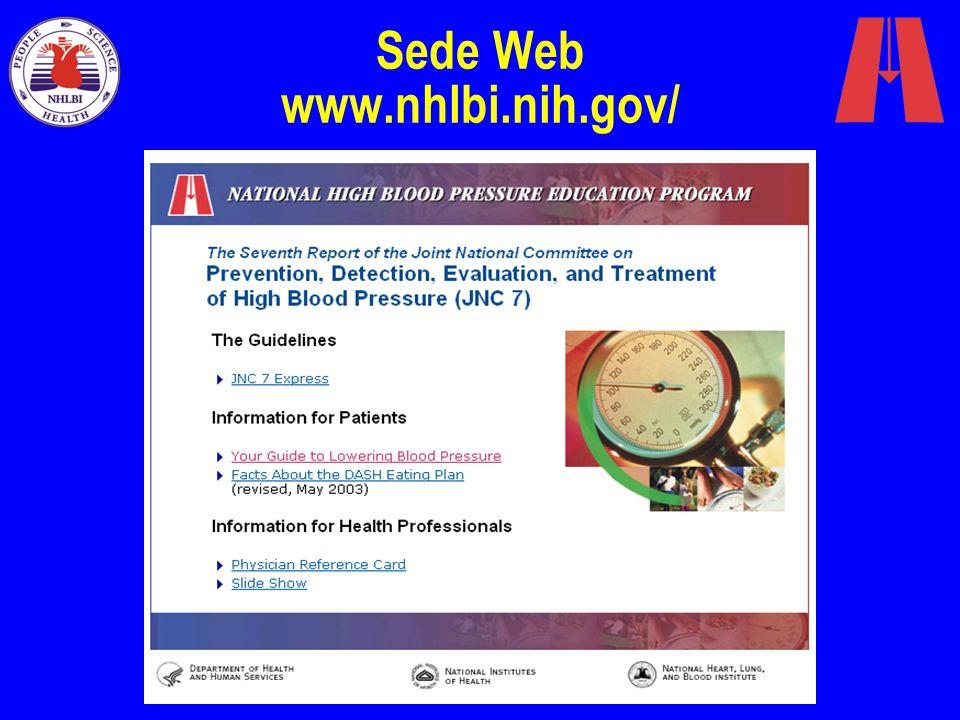 Sede Web www.nhlbi.nih.gov/