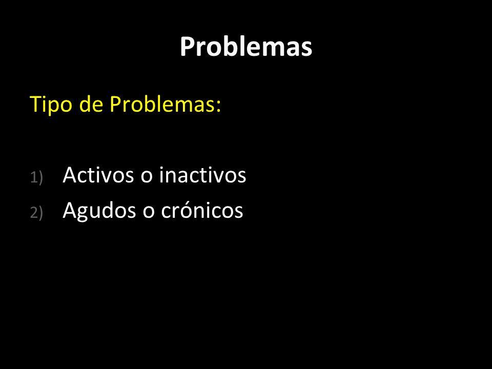 Problemas Cuando se consigna un problema en la HCOP esto debe hacerse según el MÁXIMO grado de certeza que se tenga en ese momento; basado en el interrogatorio, examen físico y eventuales estudios complementarios.