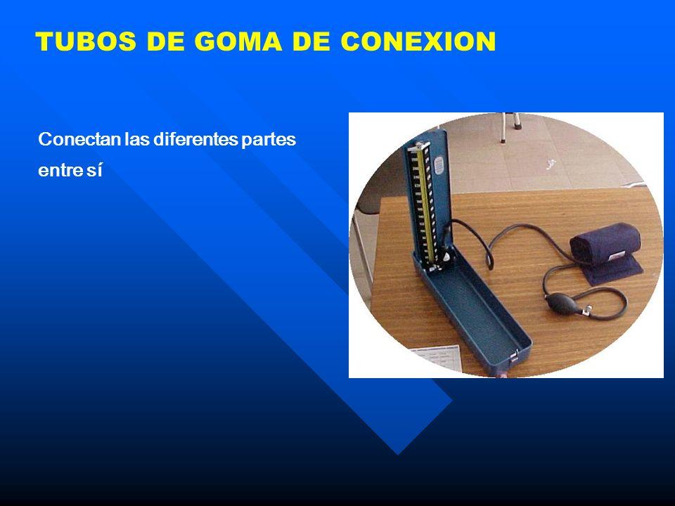 TUBOS DE GOMA DE CONEXION Conectan las diferentes partes entre sí