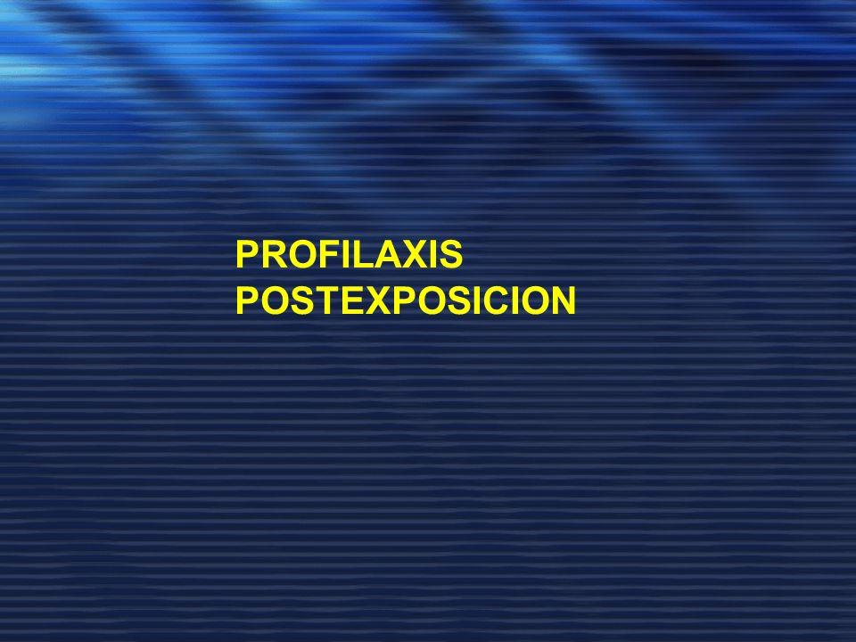 PROFILAXIS POSTEXPOSICION