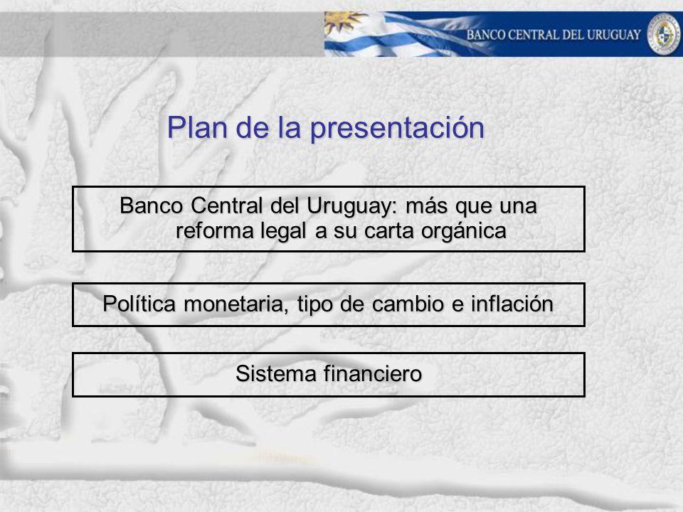 En Uruguay, se permitió a la tasa de mercado adecuarse a las expectativas de depreciación.