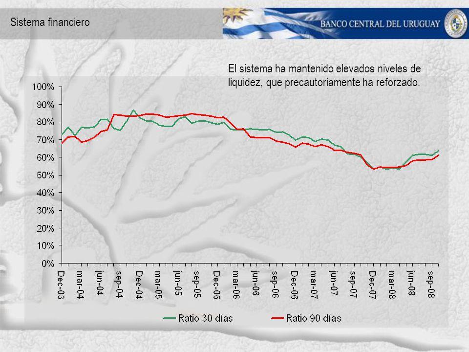 El sistema ha mantenido elevados niveles de liquidez, que precautoriamente ha reforzado.