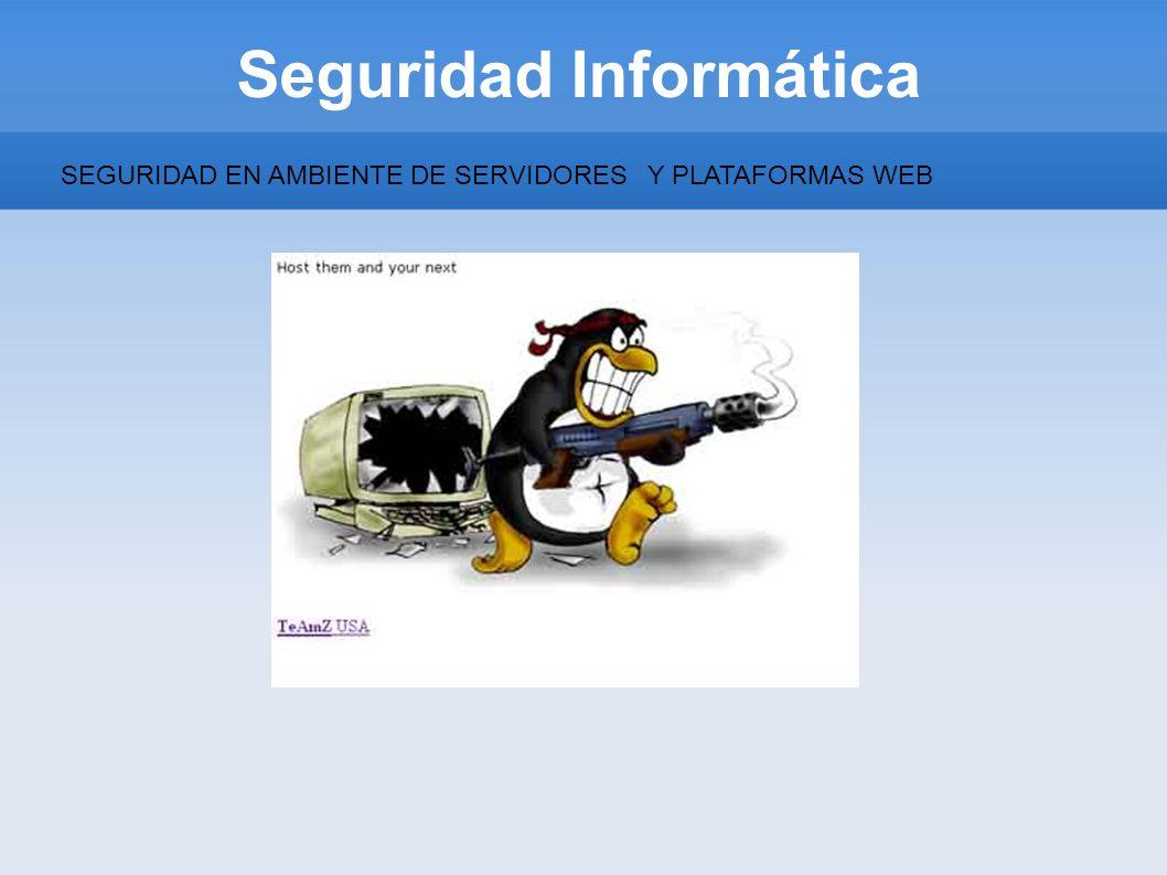 Seguridad Informática SEGURIDAD EN AMBIENTE DE SERVIDORESY PLATAFORMAS WEB