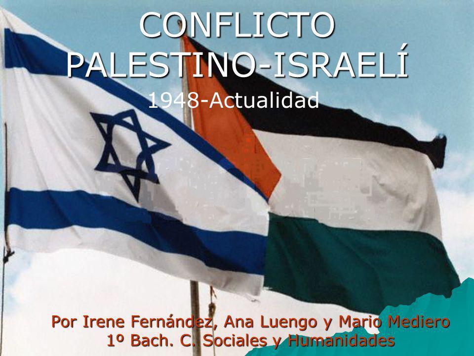 CONFLICTO PALESTINO-ISRAELÍ Por Irene Fernández, Ana Luengo y Mario Mediero 1º Bach. C. Sociales y Humanidades 1948-Actualidad