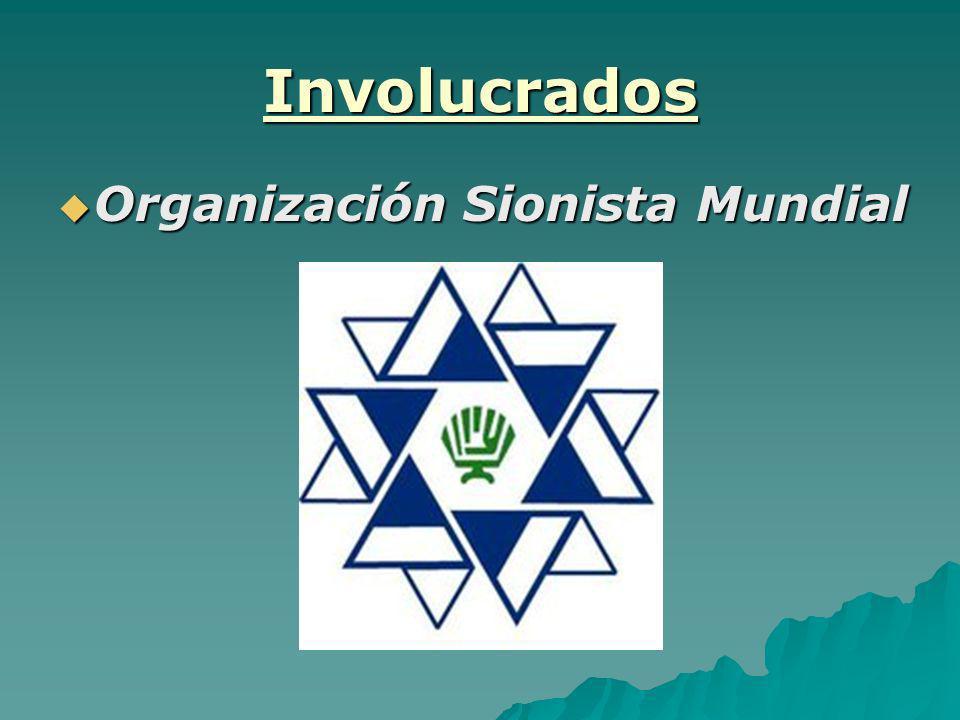 Involucrados Organización Sionista Mundial Organización Sionista Mundial