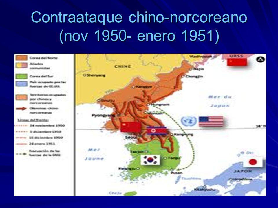 Contraataque chino-norcoreano (nov 1950- enero 1951)